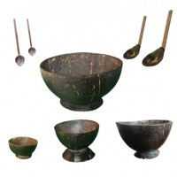 Traditional Rice Porridge Bowls and Spoons-Combo Pack