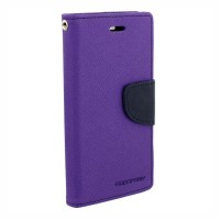 MI Redmi 3S Flip Cover Case Mercury Goospery Fancy Diary Wallet  Purple-Blue