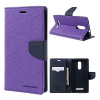 Mi Redmi Note 3 Flip Cover Case Mercury Goospery Fancy Diary Wallet  Purple-Black