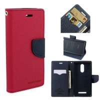 Mi Redmi Note 3 Flip Cover Case Mercury Goospery Fancy Diary Wallet  Red-Black