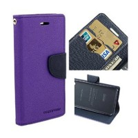 Flip Cover Case for VIVO V5 Mercury Goospery Fancy Diary Wallet  Purple-Black