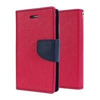Mercury Goospery Fancy Diary Wallet Flip Cover Case for VIVO Y51 Red Black