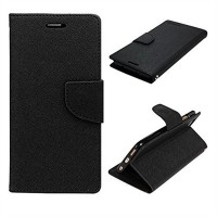 Mi Redmi 4A Flip Cover Case Mercury Fancy Diary Wallet Black