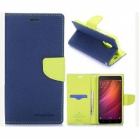 Mi Redmi Note 4 Flip Cover Case Mercury Fancy Diary Wallet  Black-Green