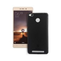 MI Redmi 3S Back Cover Slim Matte Finish Rubberized Black Hard Back Case Cover Dust Proof