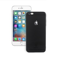 iPhone 6 Plus Back Cover Slim Matte Finish Rubberized Black Hard Back Case Cover Dust Proof