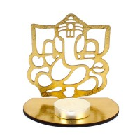 Shadow Diya Tealight Candle Holder of Ganesh TR002