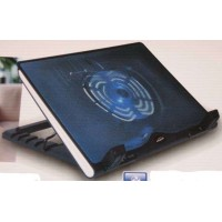 Notebook Cooler Plastic laptop stand with blue LED foldable and height adjustable EC085